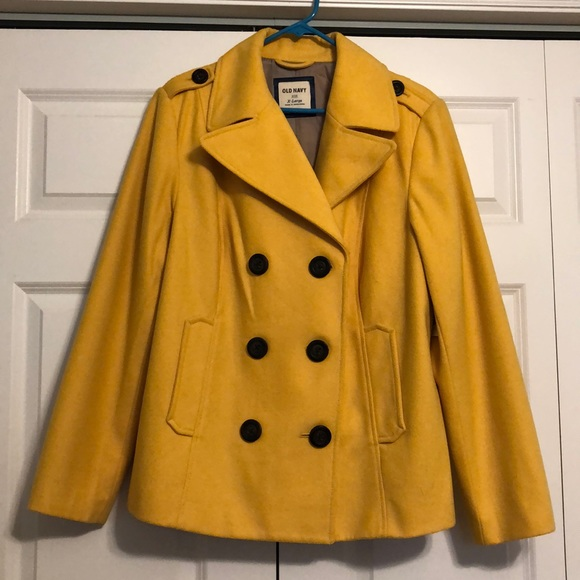 beauty choose newest select for authentic Yellow Old Navy Peacoat NWT